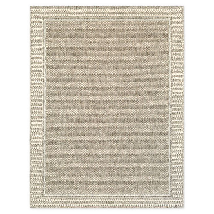 Alternate image 1 for Miami Border 8-Foot x 10-Foot Indoor/Outdoor Area Rug in Natural