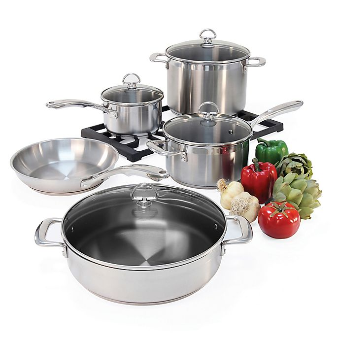 Alternate image 1 for Chantal® Induction 21 Steel™ 9-Piece Cookware Set