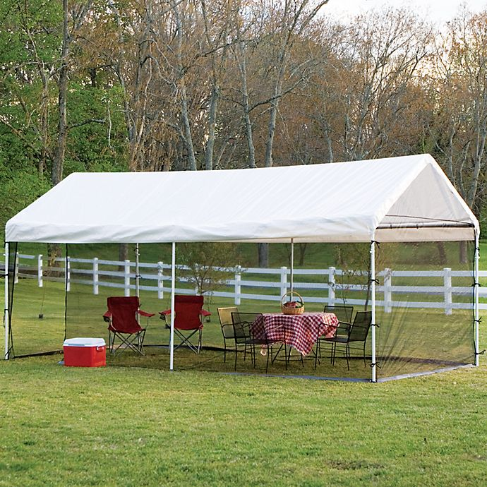 Alternate image 1 for ShelterLogic® Max AP™ 10-Foot x 20-Foot 2-in-1 Canopy and Screen Kit in White