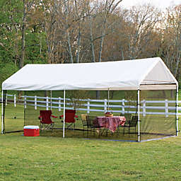 ShelterLogic® Max AP™ 10-Foot x 20-Foot 2-in-1 Canopy and Screen Kit in White