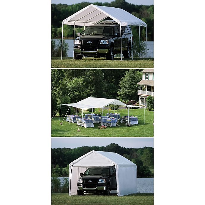 Shelterlogic Max Ap Canopy 10 Foot X 20 Foot 3 In 1 Pack In White Bed Bath Beyond
