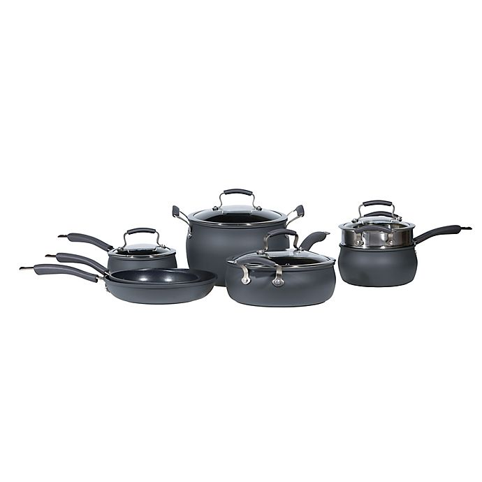 Alternate image 1 for Epicurious Hard Anodized Nonstick 11-Piece Cookware Set