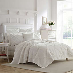 Laura Ashley® Maisy Appliqued Ruffles Quilt Set in White