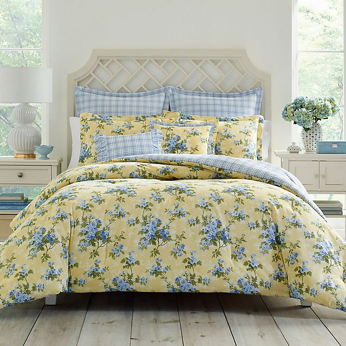 Laura Ashley Cassidy Twin Comforter Set In Yellow Bed Bath Beyond