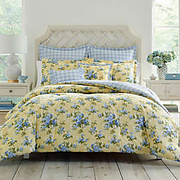Laura Ashley® Cassidy Twin Comforter Set in Yellow
