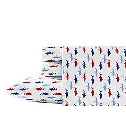 Nautica® Costazul Printed Sheet Set in Blue