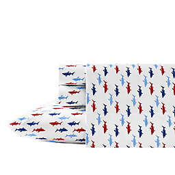 Nautica® Costazul Printed Twin XL Sheet Set in Blue