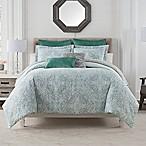 Bridge Street Monroe Full/Queen Comforter Set in Teal/Green