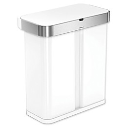 simplehuman® 58-Liter Dual Compartment Voice & Motion Sensor Trash Can