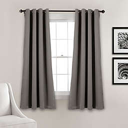 Insulated 63-Inch Grommet Room Darkening Window Curtain Panels in Dark Grey (Set of 2)