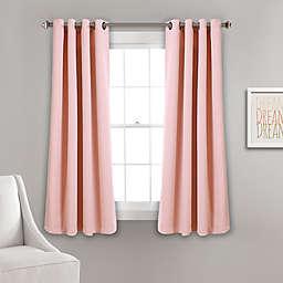 Insulated 63-Inch Grommet Room Darkening Window Curtain Panels in Pink (Set of 2)