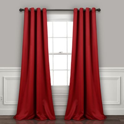 Bed Bath Beyondinsulated 2 Pack 84 Inch Grommet Room Darkening Window Curtain Panels In Red Dailymail