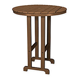 POLYWOOD® La Casa 36-Inch Round Outdoor Bar Table