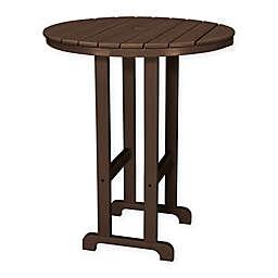 POLYWOOD® La Casa 36-Inch Round Outdoor Bar Table in Mahogany