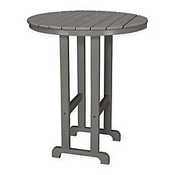 POLYWOOD® La Casa 36-Inch Round Outdoor Bar Table in Slate Grey