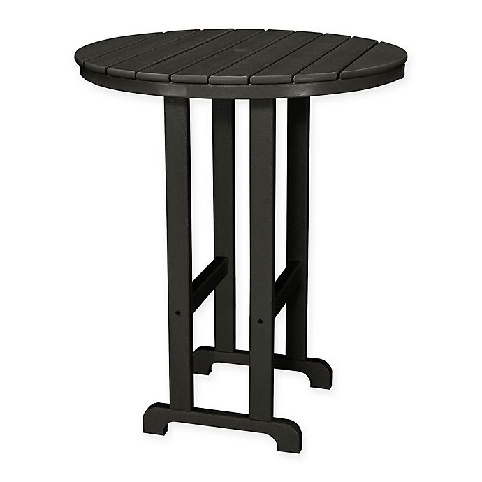 Alternate image 1 for POLYWOOD® La Casa 36-Inch Round Outdoor Bar Table in Black