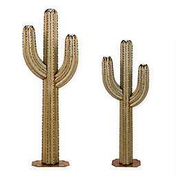 Desert Steel Saguaro Cactus Steel Garden Torch