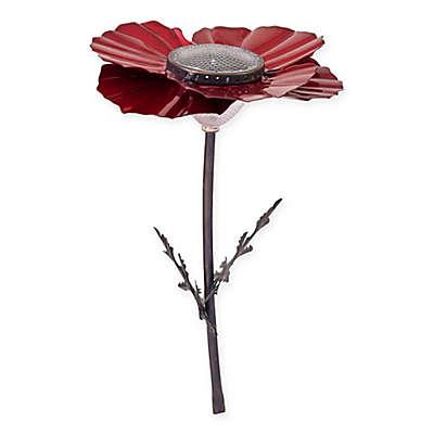 Desert Steel Poppy Solar Garden Light