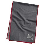 Mission HydroActive Max Large Towel in Charcoal/Red