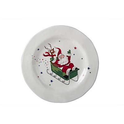 Melamine Vintage Holiday Dinner Plate