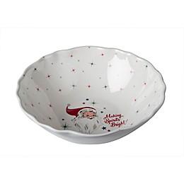 Vintage Holiday Melamine Serving Bowl
