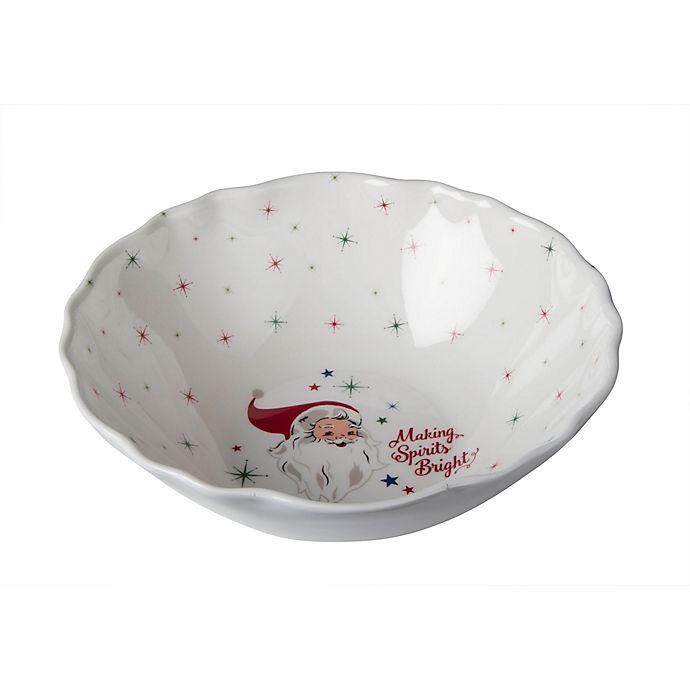 Alternate image 1 for Vintage Holiday Melamine Serving Bowl