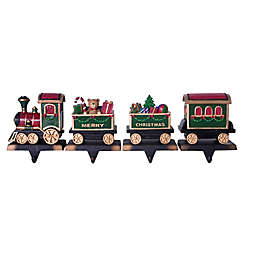 Train 4-Piece Stocking Holders in Green/Red