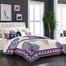 Chic Home Samadhi 5-Piece Reversible Comforter Set in Purple