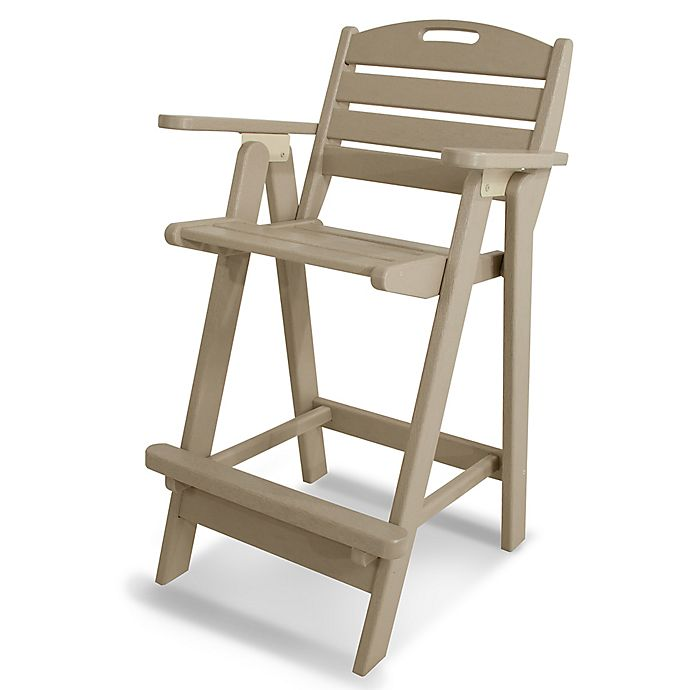 Alternate image 1 for POLYWOOD® Nautical Bar Chair in Sand