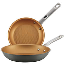 Ayesha Curry™ Hard Anodized Aluminum Skillet Twin Pack in Charcoal Grey