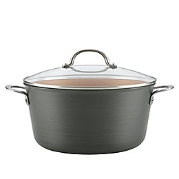 Ayesha Curry™ Hard Anodized Aluminum 10 qt. Covered Stock Pot in Charcoal Grey