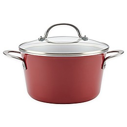 Ayesha Curry™ Porcelain Enamel Nonstick 4.5 qt. Covered Sauce Pot