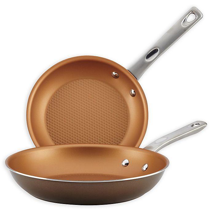 Alternate image 1 for Ayesha Curry™ Porcelain Enamel Nonstick 2-Piece Skillet Set in Brown Sugar