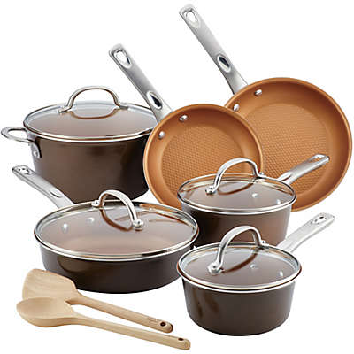 Ayesha Curry™ Porcelain Enamel Nonstick 12-Piece Cookware Set in Brown Sugar