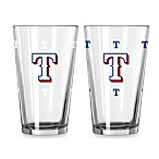 MLB Texas Rangers Color Changing Pint Glasses (Set of 2)