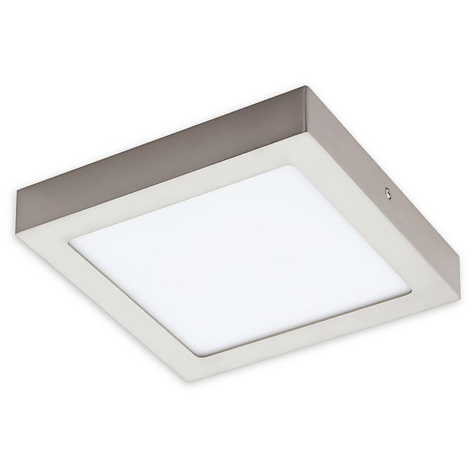 Alternate image 1 for Eglo 3.49-Inch Fueva 1-Light LED Semi-Flush Square Light in Matte Nickel
