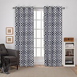 Scrollwork 2-Pack Grommet Room Darkening Window Curtain Panels