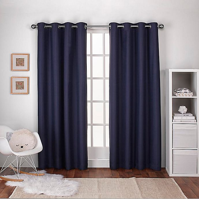 Alternate image 1 for Textured 2-Pack Grommet Top Window Curtain Panels
