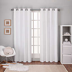 Textured 2-Pack 108-Inch Grommet Top Window Curtain Panels in White