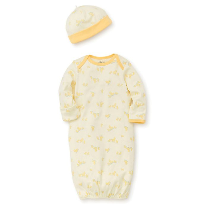 Alternate image 1 for Little Me® 2-Piece Ducks Gown and Hat Set in Yellow