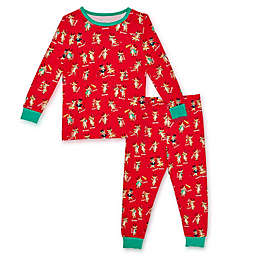 Magnetic Me® by Magnificent Baby 2-Piece Holiday Rollicking Reindeer Pajama Set in Red