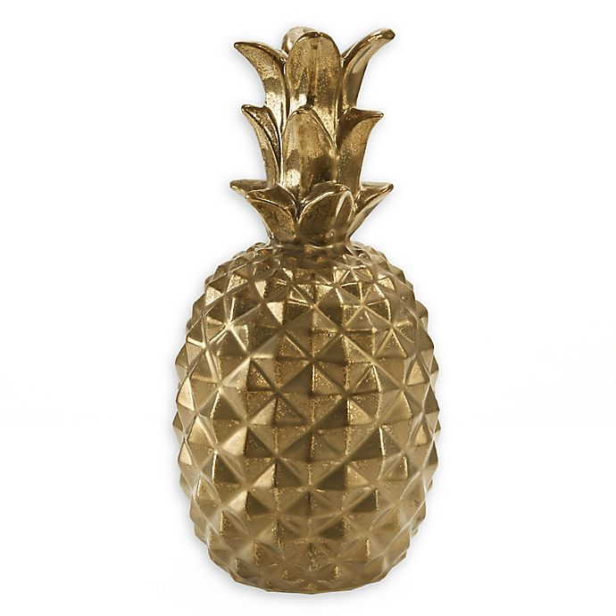 Alternate image 1 for Madison Park Signature Pineapple Sculpture in Gold