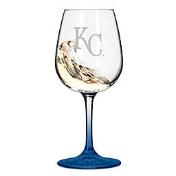 Satin Etched MLB Kansas City Royals Wine Glasses (Set of 2)