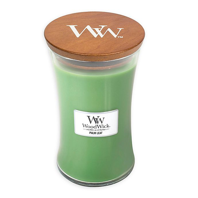 Alternate image 1 for WoodWick® Palm Leaf Large Hourglass Jar Candle