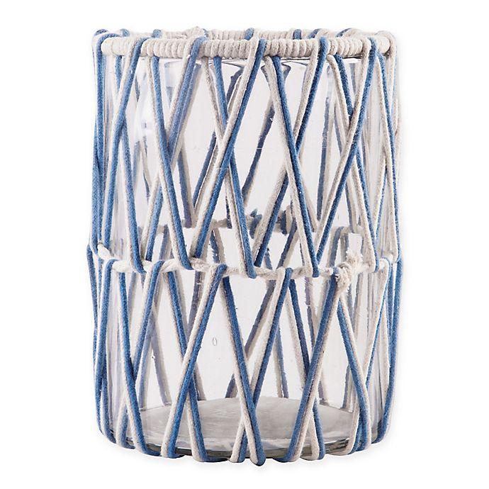 Alternate image 1 for Home Essentials & Beyond Macrame Hurricane Candle Holder