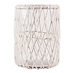 Home Essentials & Beyond Macrame Hurricane Candle Holder in White