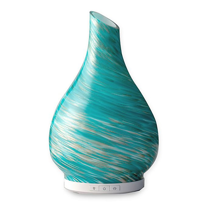 Alternate image 1 for SpaRoom® SeaScape™ Glass Essential Oil Diffuser in Blue Swirl