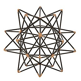 Ridge Road Décor Geometric Star Iron Sculpture in Black