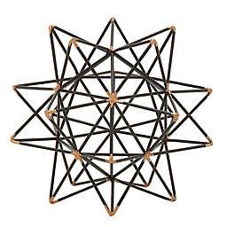 Ridge Road Décor Geometric Star Iron Sculpture in Black