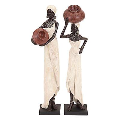 Ridge Road Décor African Tribe Ladies 2-Piece Sculpture Set